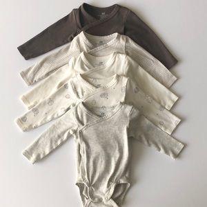 H&M baby kimono style onesie bundle